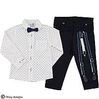 Костюм с брюками и бабочкой для мальчика Размеры: 5-6-7-8 лет (5643-2)