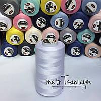 Нитки швейные   5000 ярдов,цвет белый № N50-40-101