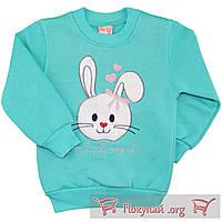 Детские тёплые кофточки с зайчиком Размеры: 92-98-104-110 см (5647-1)