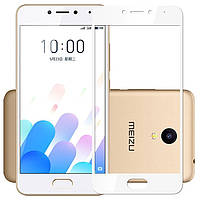 Защитное стекло Meizu M5c full cover white