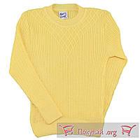Жёлтая вязанная туника для девочек Размеры: от 4 до 9 лет (5648-3)