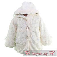 Белая шубка для малышей из искусственного меха Размеры: 3-4-5 лет (5649-2)