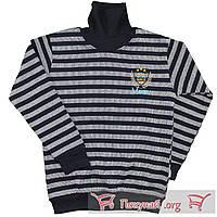 Стильный свитер с горлом в полоску для мальчика от 10 до 16 лет пр- во Турция (5651-1)