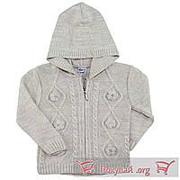 Вязанные кофты на молнии с капюшоном для девочек Размеры: 1-2-3 года (5653-1)