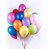 Разноцветные шары пастель с гелием 25 шт. 110917-250