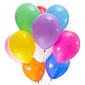 Разноцветные шары пастель с гелием 10 шт. 120917-100