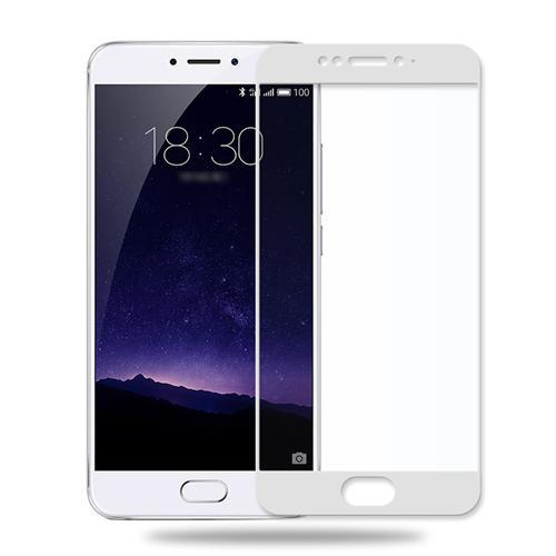 Защитное стекло Meizu MX6 full cover white