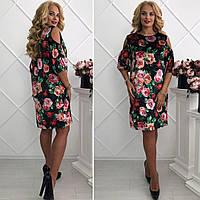 """Платье-чехол с открытым плечиком большой размер """"Silena"""" 2P/NR-5203"""