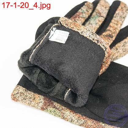 Оптом женские трикотажные стрейчевые перчатки для сенсорных телефонов - №17-1-20, фото 3