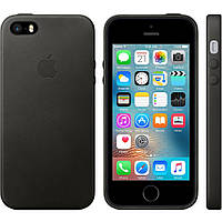 Кожаный чехол Apple Leather Case IPHONE 5/5S/SE (Black), фото 1