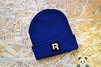 Модная шапка мужская Reebok, Рибок синяя шапка