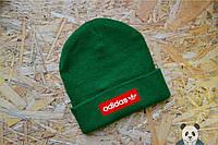 Зеленая шапка мужская Adidas Beanie, адидас шапка