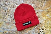 Молодежная красная шапка Adidas, адидас зимняя мужская