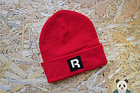 Яркая зимняя шапка с нашивкой Reebok, мужская красная