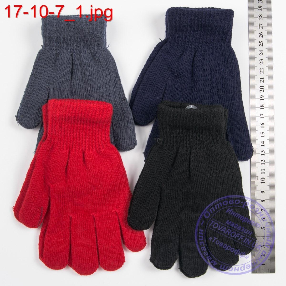 Оптом трикотажные перчатки для мальчиков и девочек на 9, 10, 11, 12, 13 лет - №17-10-6