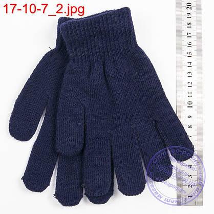 Оптом трикотажные перчатки для мальчиков и девочек на 9, 10, 11, 12, 13 лет - №17-10-6, фото 2