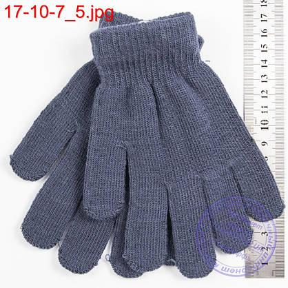 Оптом трикотажные перчатки для мальчиков и девочек на 9, 10, 11, 12, 13 лет - №17-10-6, фото 3