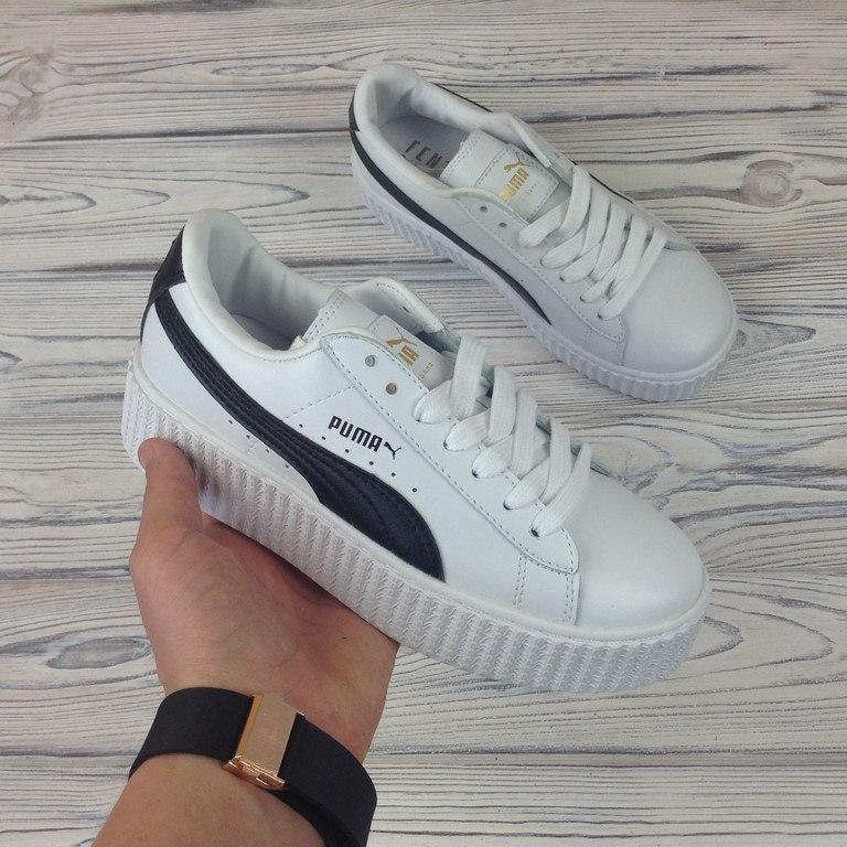 39 размер - Женские кроссовки Rihanna x Fenty x Puma Creeper  Cracked  Leather  - ec7673215eb0a