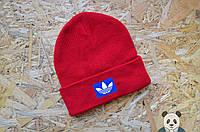 Яркая шапка мужская Adidas, Адидас шапка красная