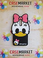 Объемный 3d силиконовый чехол для Xiaomi Redmi Note 4 Утка Daisy Duck