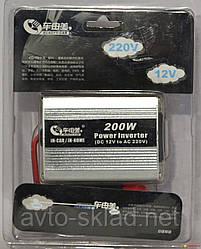 Перетворювач напруги Cartoy 200W 12-220V