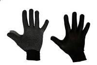 Синтетические рабочие перчатки, нейлоновые с ПВХ точкой (черные)