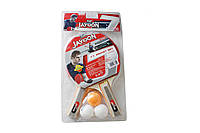 Ракетка для настольного тенниса 6355 (набор для настольного тенниса): ракетка 2шт + мячик 3шт