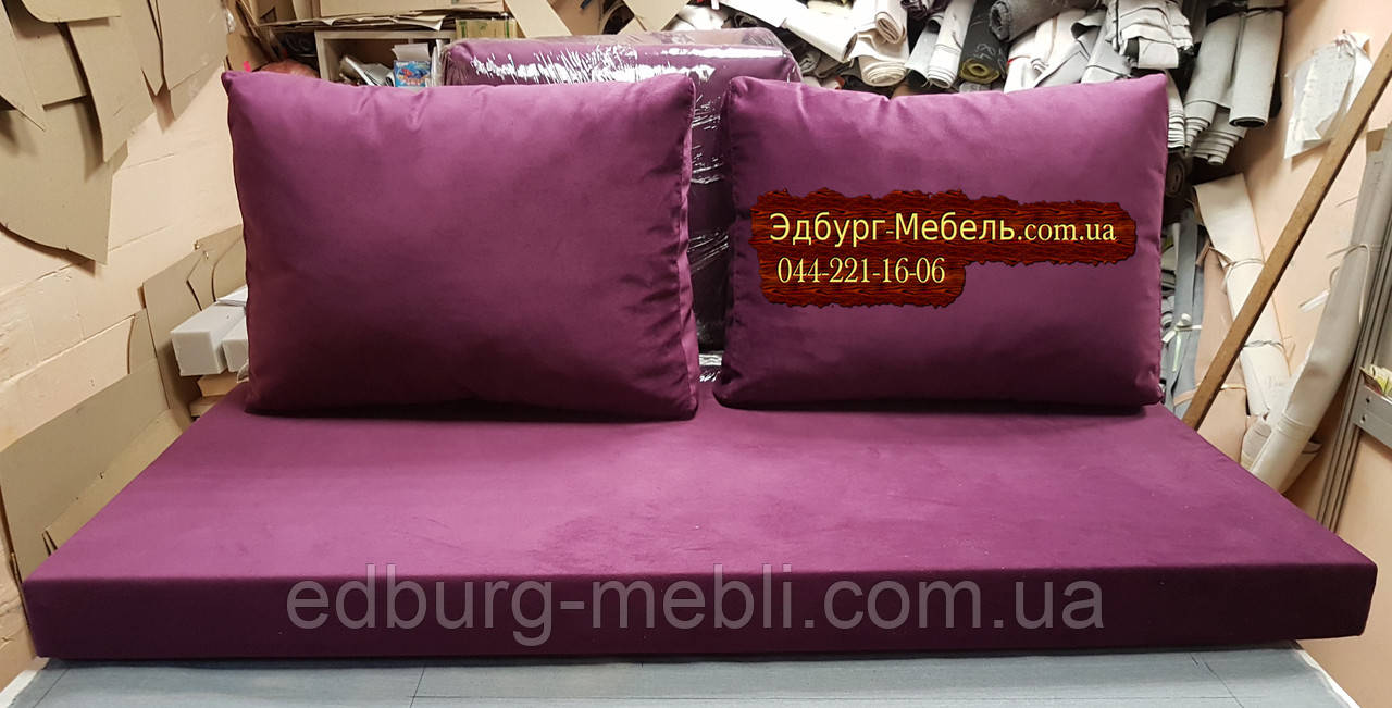 Матрац і подушки холлофайбер для палет 1200х600мм