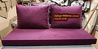 Матрац і подушки холлофайбер для палет 1200х600мм, фото 1