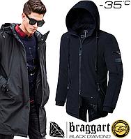 Мужская зимняя парка Braggart Black Diamond - 4050 черный