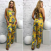 """Пижама женская с брючками большой размер """"Silena"""" 2P/NR-5203"""