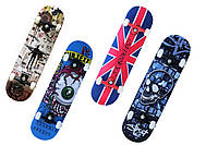 Скейтборд спортивный Freedom 3108, 4 цвета: размер 80х20см, ABEC 7