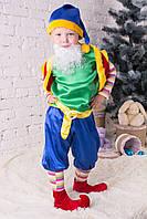 Яркий карнавальный костюм Лесной гном зеленый