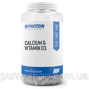 Кальцій та вітамін D3 Myprotein Calcium & Vitamin D3 60 таб.