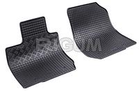 Резиновые ковры для Dacia Logan MCV с 2009- , 2шт., черный, RIGUM