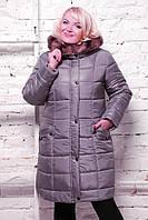 Женское элегантное зимнее пальто приталенного силуэта BABOCHKA NEW ( цвет Серый )