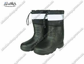 Мужские сапоги (Код: Полурыбак черный С-22)