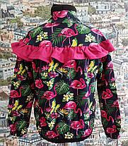 Кофта-бомбер фламинго р.116-134, фото 3