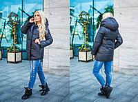 Теплая черная курточка для зимы