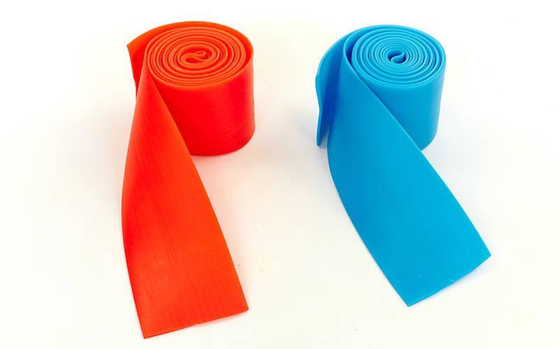 Жгут эластичный спортивный, лента жгут VooDoo Floss Band FI-3933-2,5 (латекс,l-2,5м, 8смx2мм,син,кр)