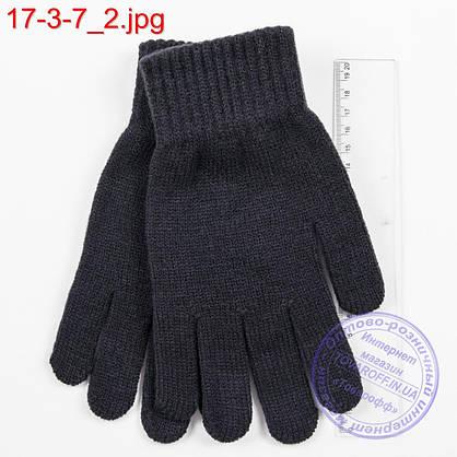 Оптом трикотажные женские перчатки - №17-3-7, фото 2