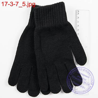 Оптом трикотажные женские перчатки - №17-3-7, фото 3