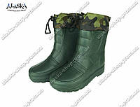 Мужские сапоги (Код: ГП-05 мех зеленый) , фото 1