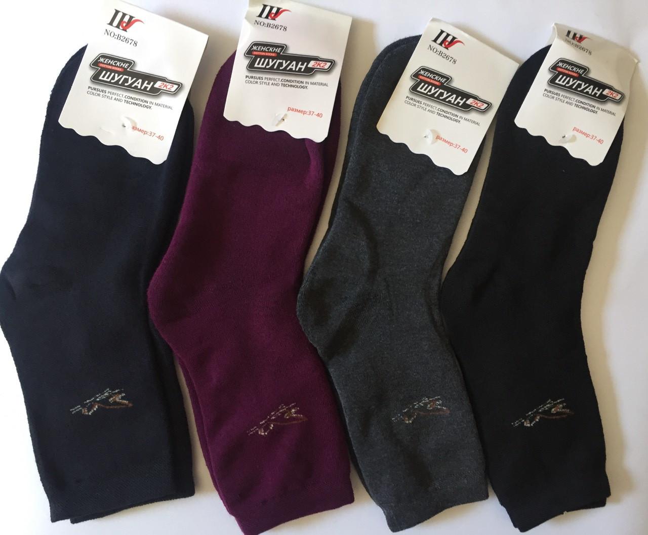 Махровые носки корона 37-40 Хлопок Шугуан