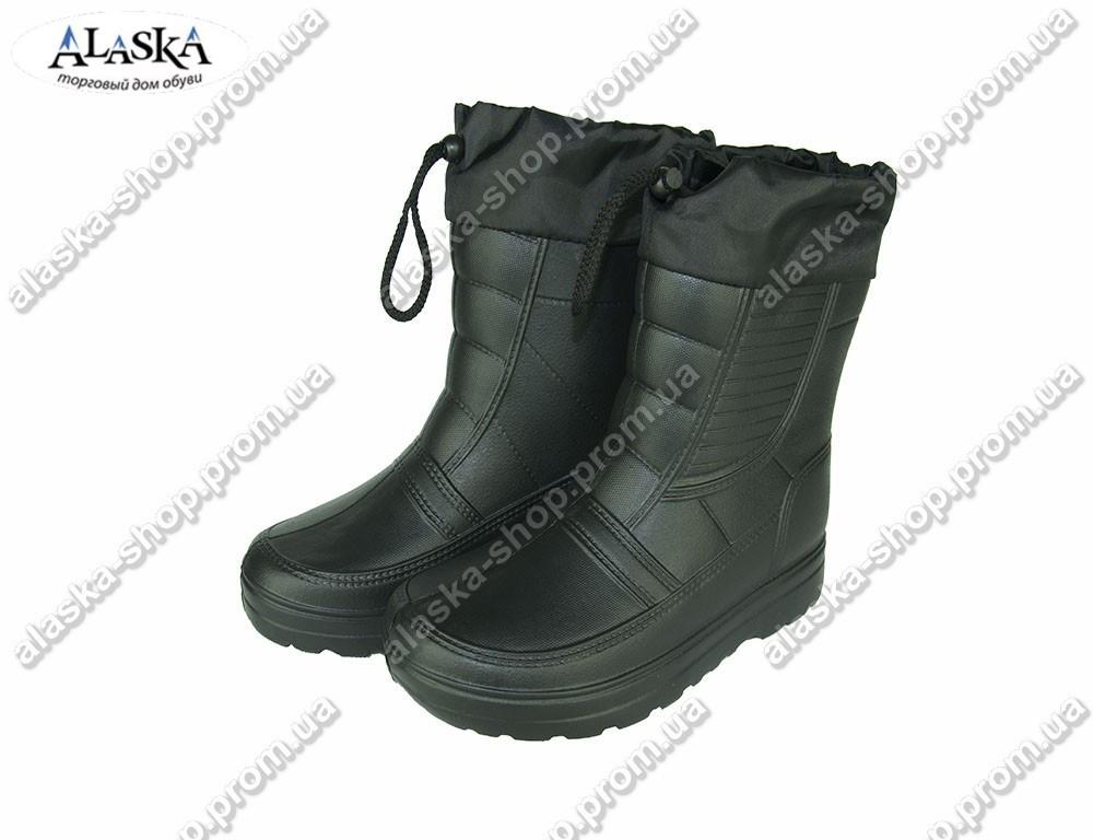Мужские сапоги (Код: ГП-05 мех черный)