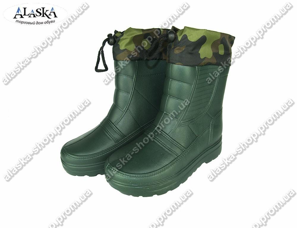 Мужские сапоги (Код: ГП-05 мех зеленый)