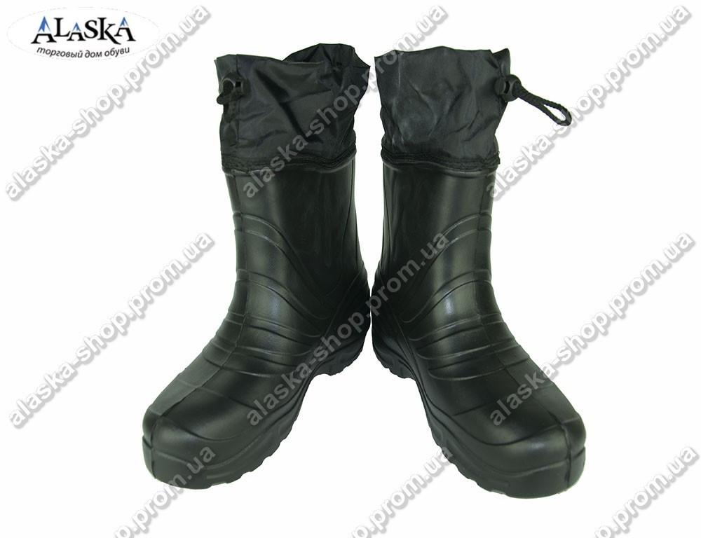 Мужские сапоги (Код: ГП-15 мех черный)