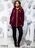 Утепленный спортивный костюм большого размера недорого в интернет-магазине Украина Россия Balani р. 48-58