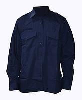 Полицейская форменная рубашка темно-синяя (воронье крыло). НОВАЯ. Великобритания, оригинал.