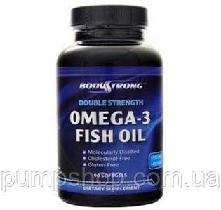 Омега-3 рыбий жир BodyStrong Omega-3 Fish Oil (Double Strength) 180 капс.